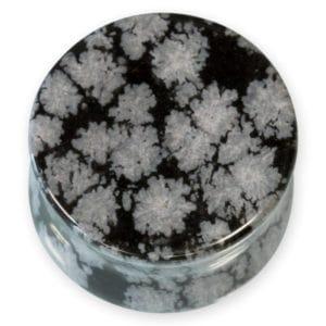 Obsidiana copo de nieve pulida