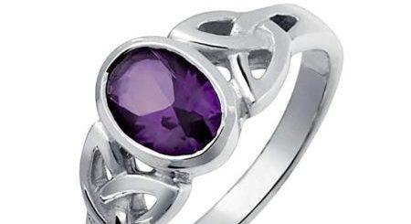 anillo de amatista