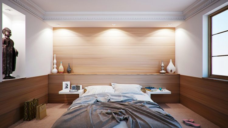 habitación con decoración zen